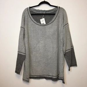 Cupshe Womens Gray Tunic Knit Top